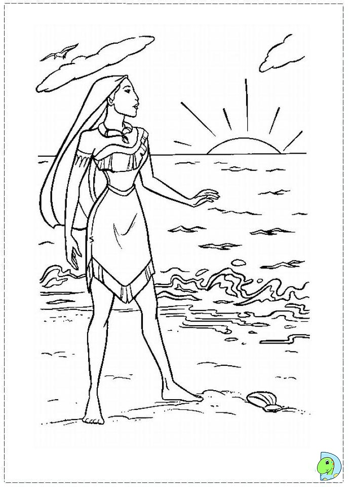 pocahontas coloring pages at waterfall disney pocahontas coloring