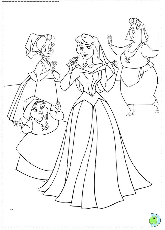 sleeping beauty coloring pages disney - photo#19