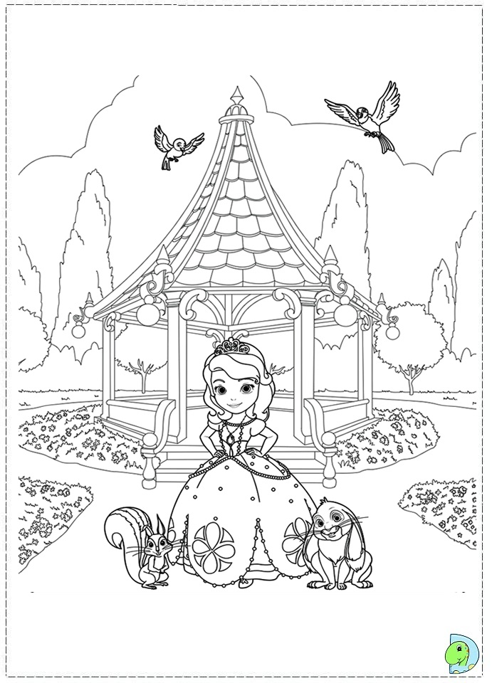 disney sofia coloring pages-#36