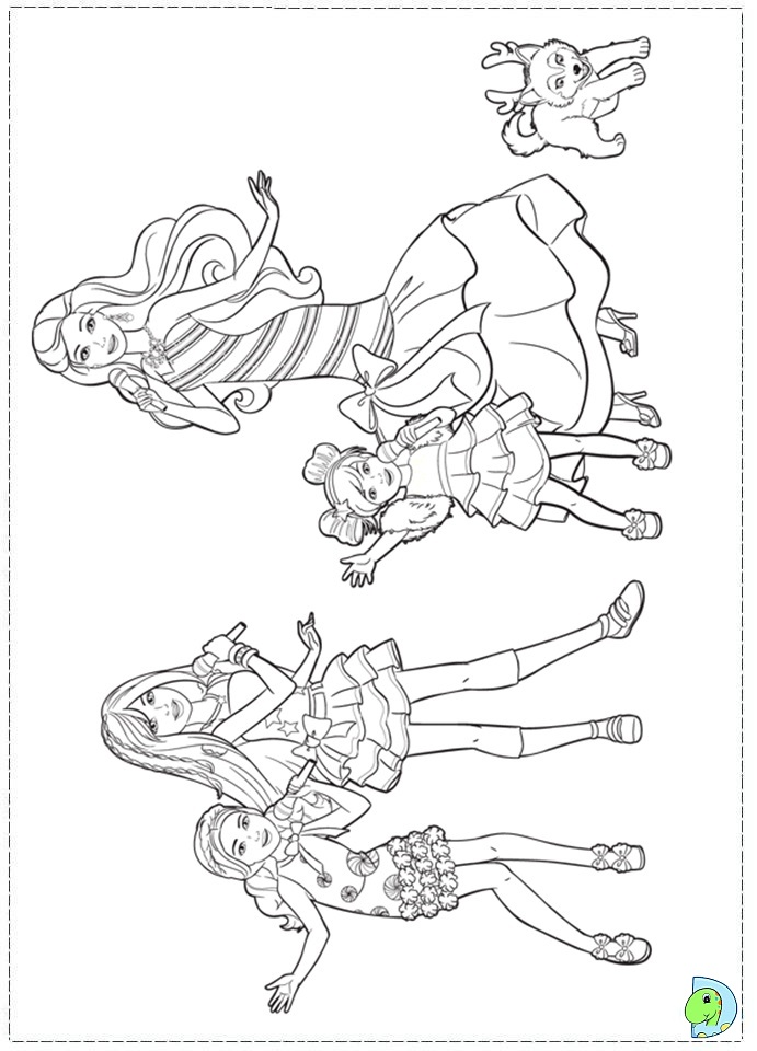 Barbie in a Perfect Christmas coloring