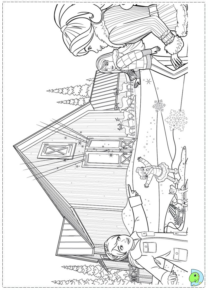 Holiday Barbie Coloring Pages : Barbie christmas carol coloring pages
