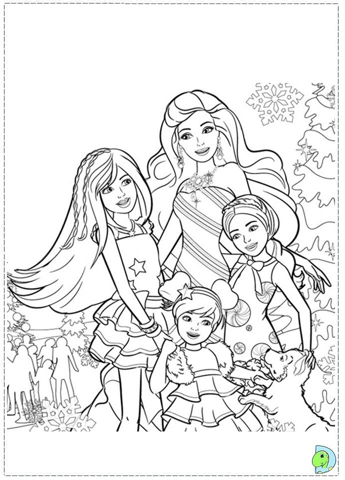 Barbie in a Perfect Christmas coloring page DinoKids