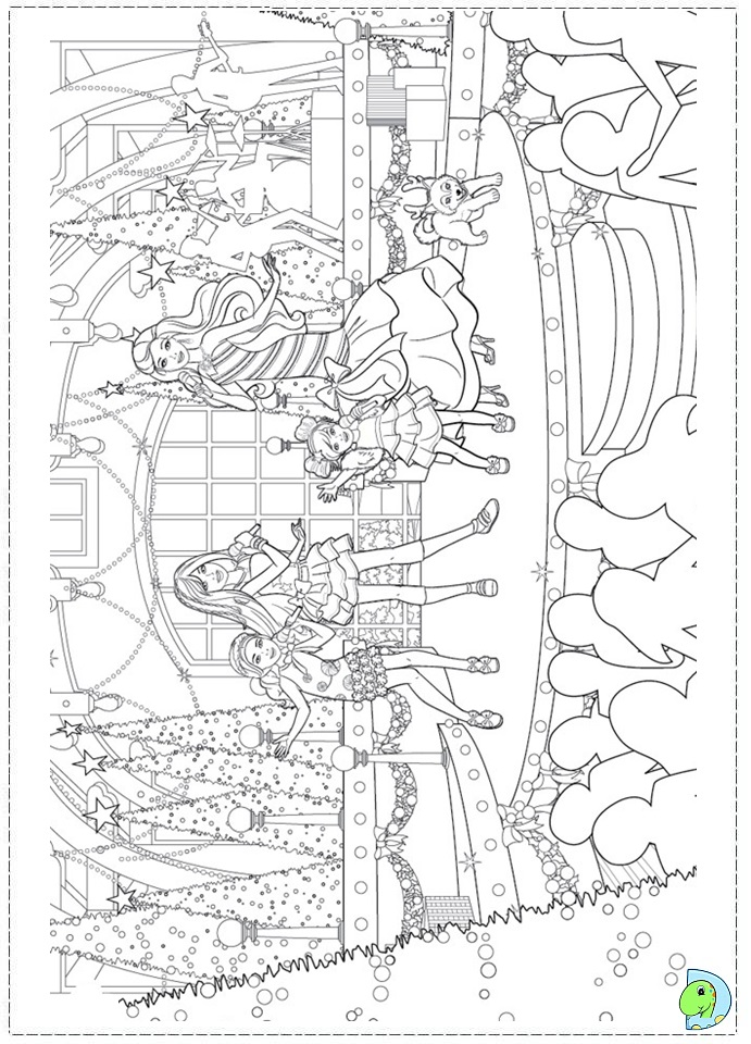 Barbie in a Perfect Christmas coloring page- DinoKids.org