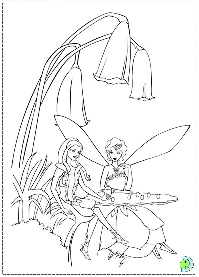 Barbie Rainbow Coloring Pages : Pin barbie fairytopia color change pink mermaid doll girls
