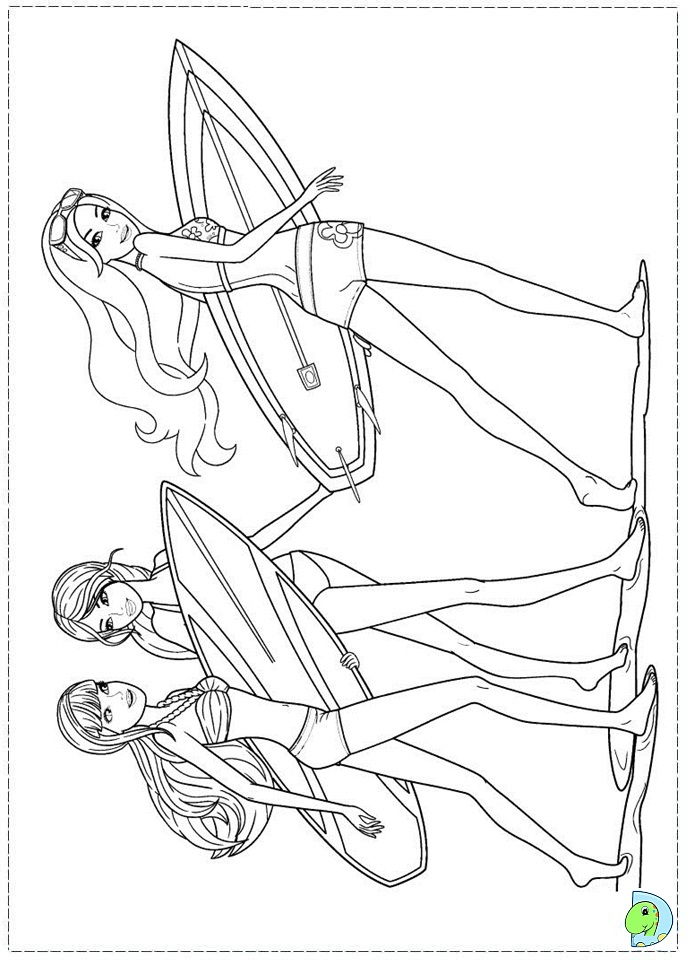 Barbie a Mermaid Tale Coloring Pages Pages Barbie Mermaid c