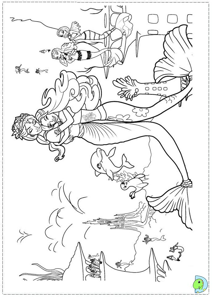 Beautiful Barbie Mermaid Coloring Pages