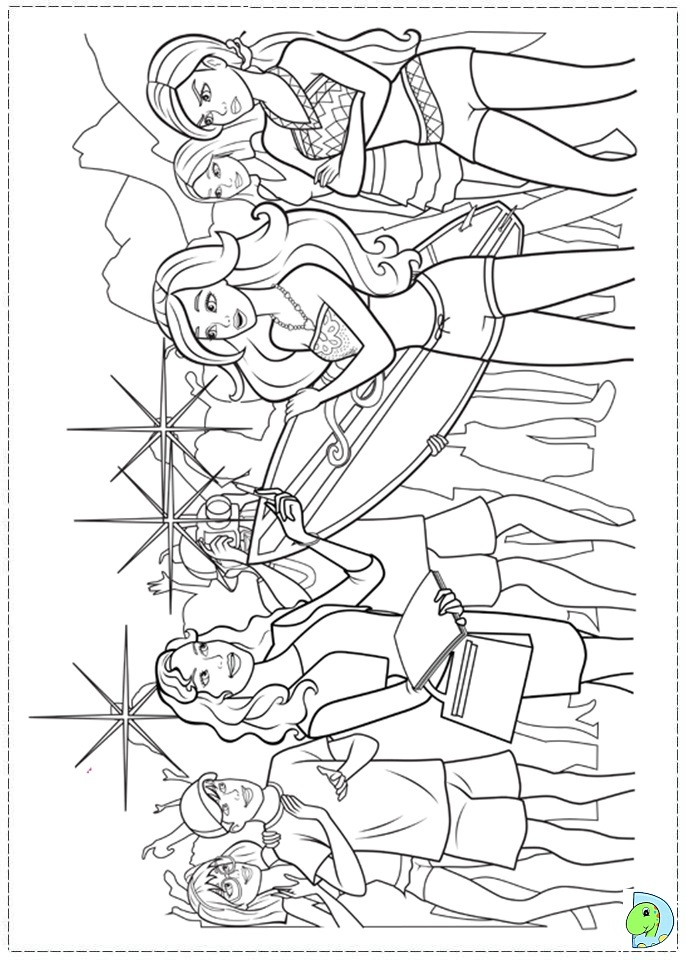 barbie in a mermaid tale coloring page dinokidsorg