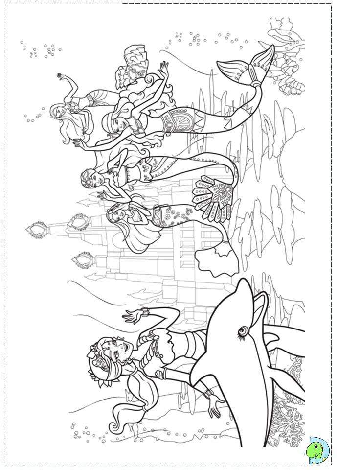 mermaid tale 2 coloring pages - photo#24