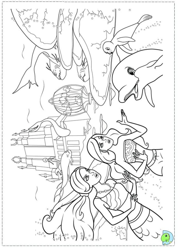 mermaid tale 2 coloring pages - photo#13