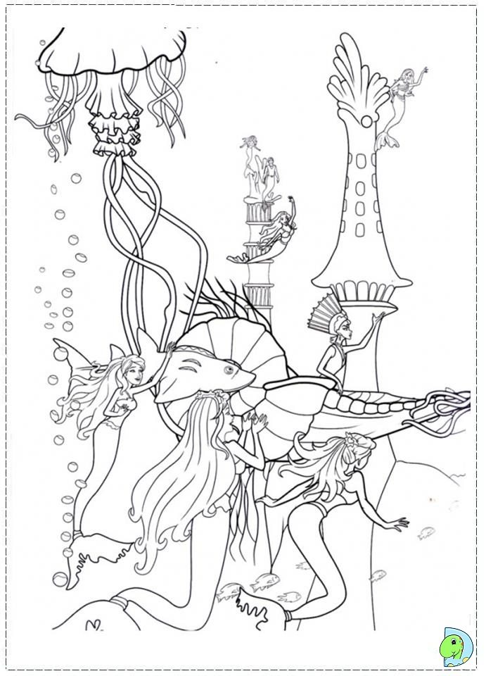 mermaid tale 2 coloring pages - photo#1