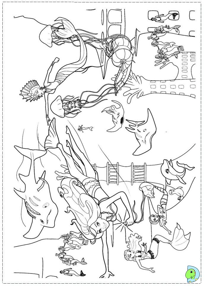 Coloring pages barbie search results calendar 2015 for Barbie mermaid tale coloring pages