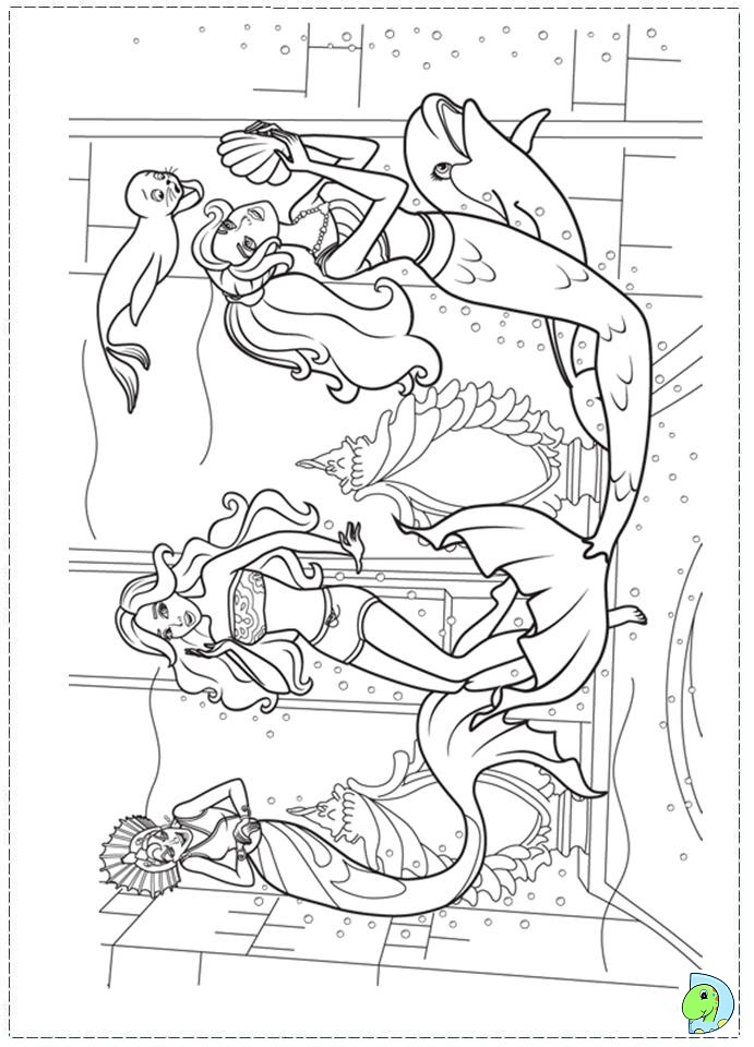 mermaid tale 2 coloring pages - photo#3