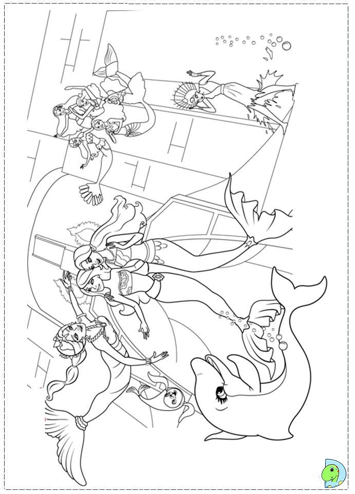 mermaid tale 2 coloring pages - photo#23