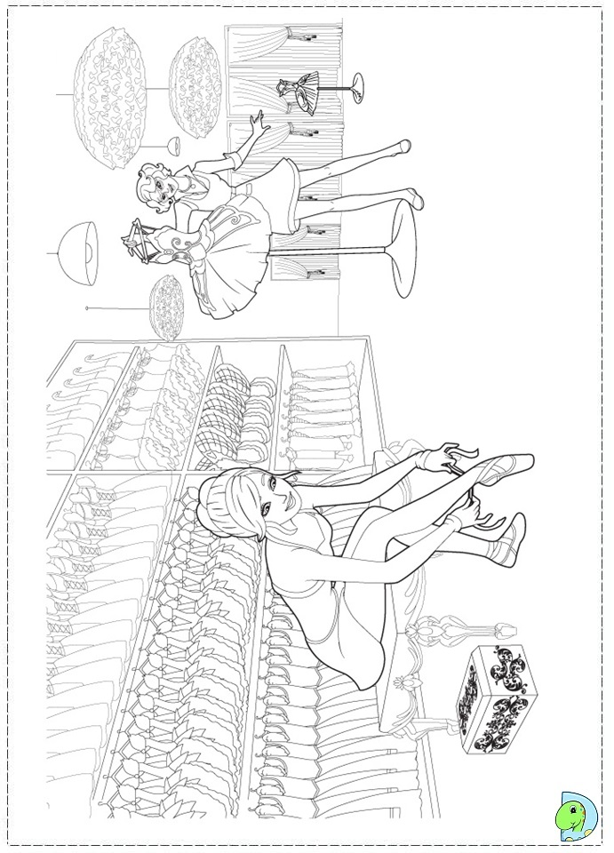 barbie and the pink shoes coloring pages barbie pinkshoes