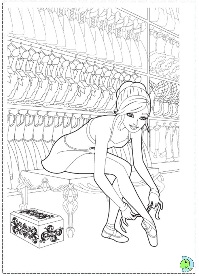 Barbie High Heels Coloring Pages