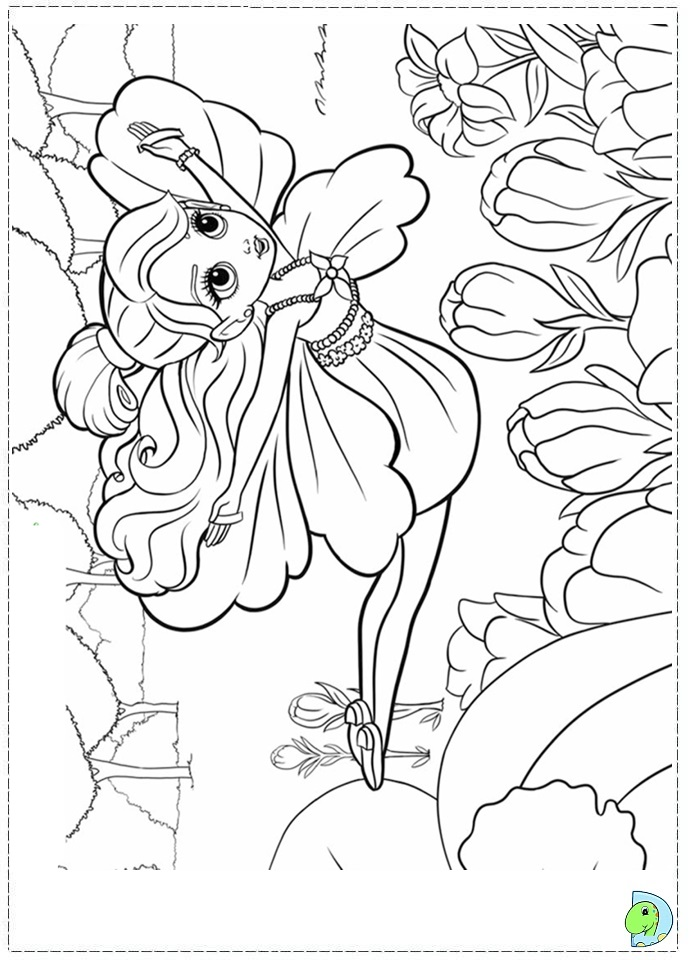 barbie thumbelina free coloring pages - photo#16