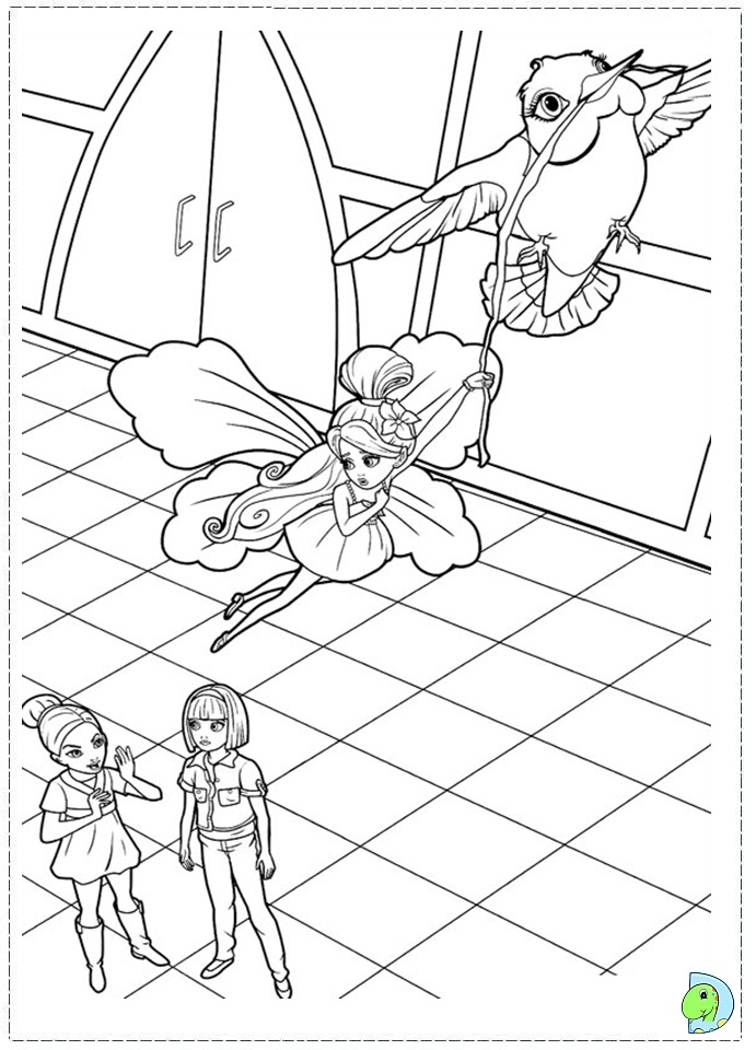 Barbie Thumbelina coloring page DinoKids
