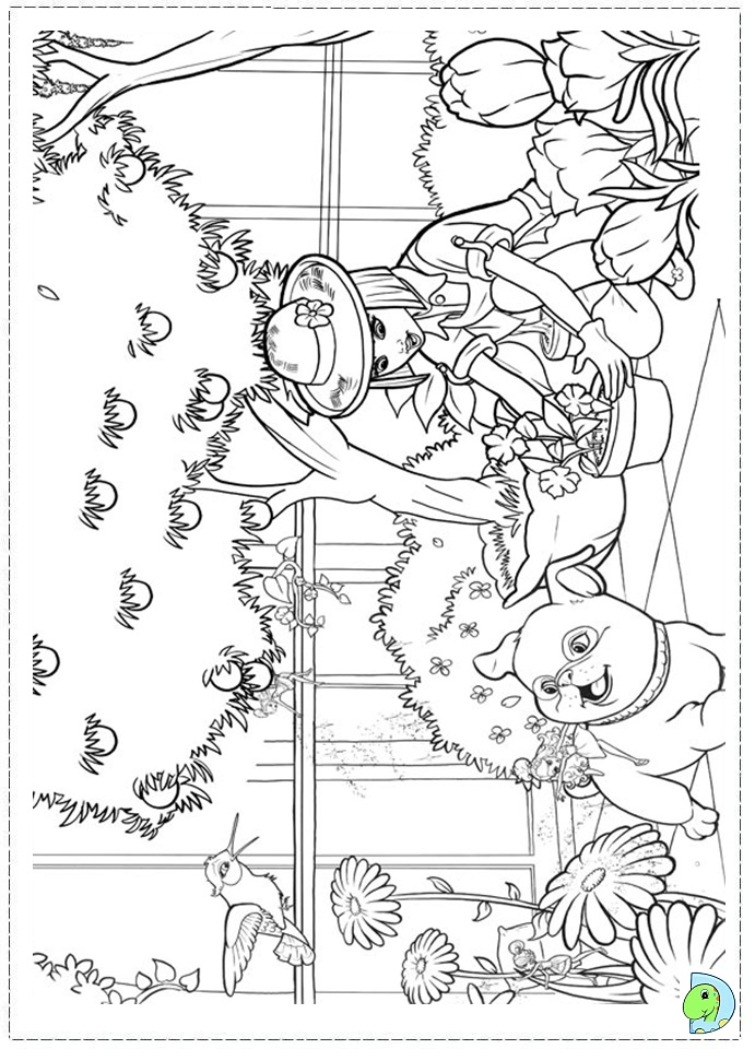 barbie thumbelina free coloring pages - photo#22