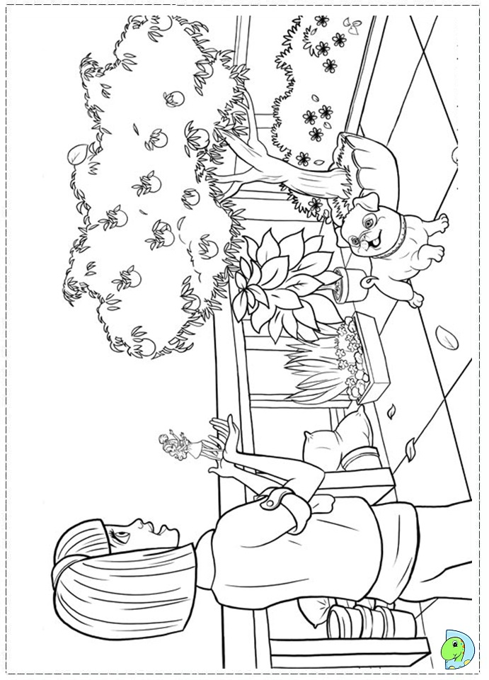 barbie thumbelina free coloring pages - photo#10