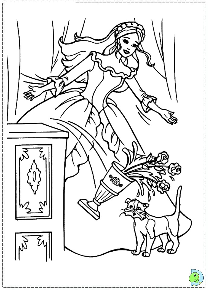 princess pauper coloring pages - photo#15