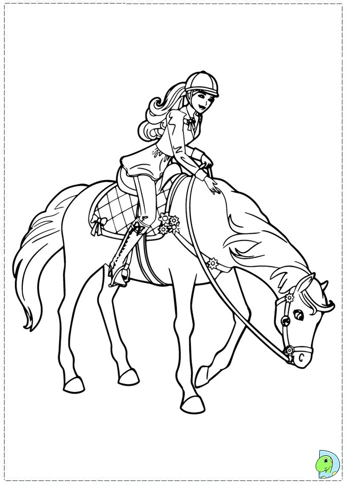 And In A Pony Tale Barbie Coloring Pages Printable Her