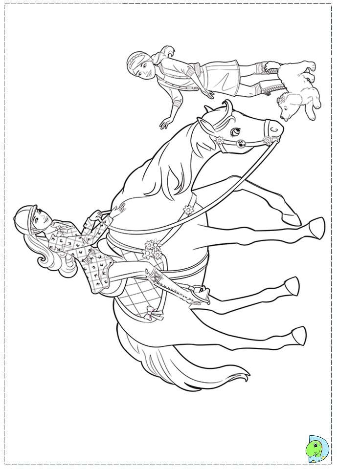 Free coloring pages of barbie with sisters - Barbi coloriage ...