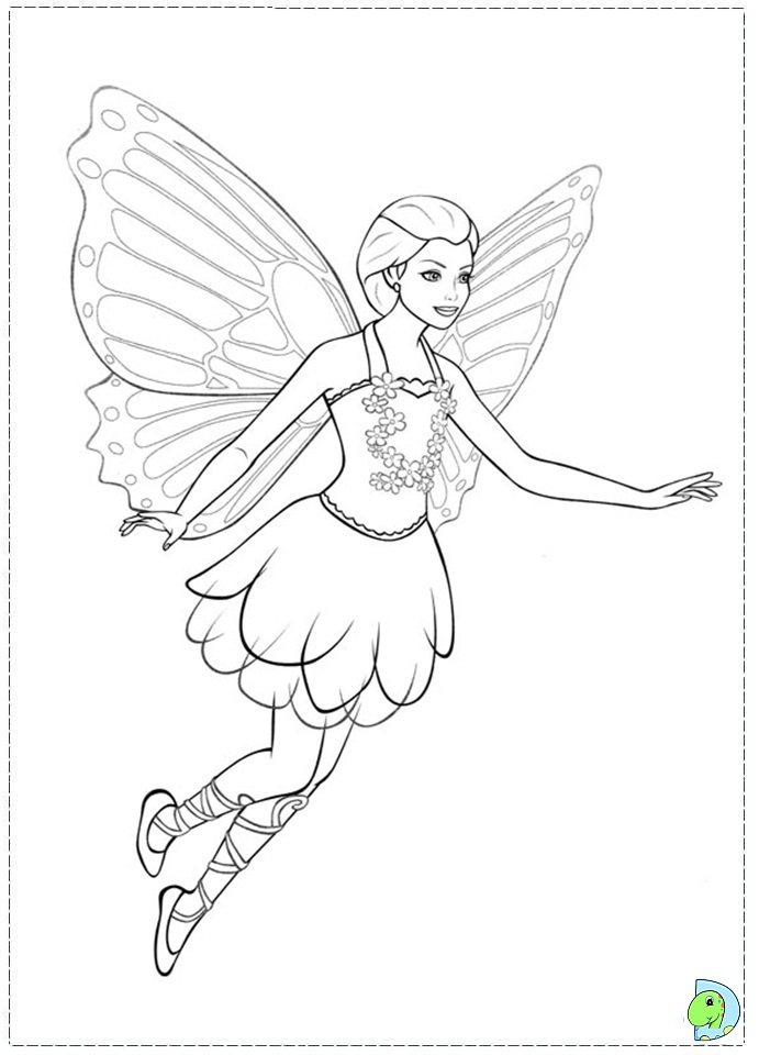 barbie mariposa coloring pages free - photo#11