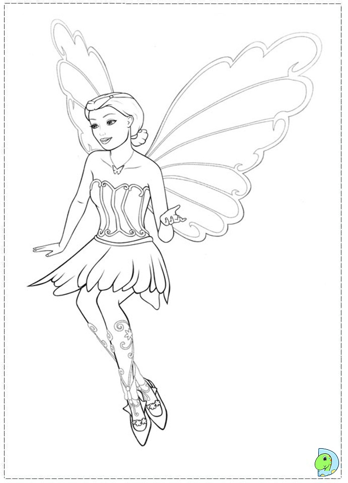 Barbie Mariposa Coloring Pages To Print : Baribie mariposa coloring page dinokids