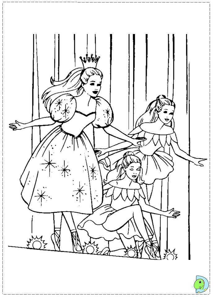 Barbie nut cracker free coloring pages for Nutcracker coloring pages printable