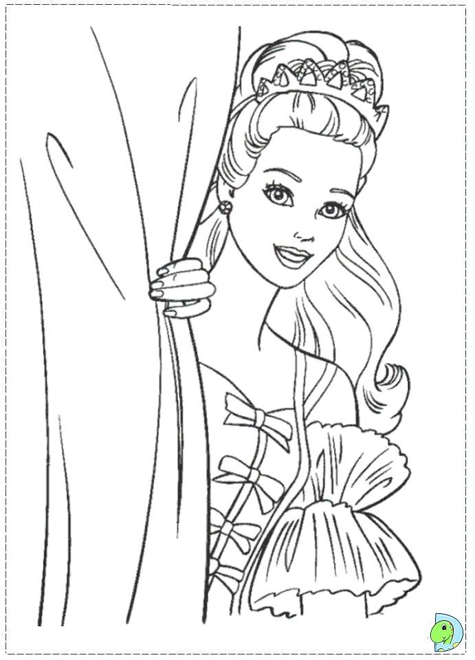Coloring Pages Barbie Nutcracker : Barbie nutcracker coloring page dinokids