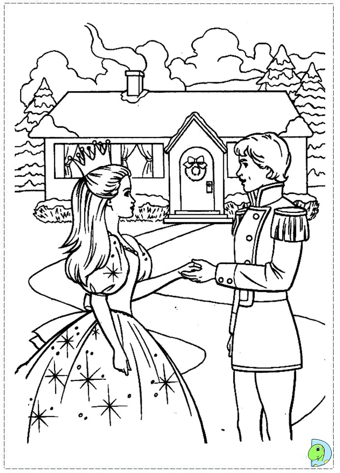 Barbie Nutcracker Coloring Dinokids