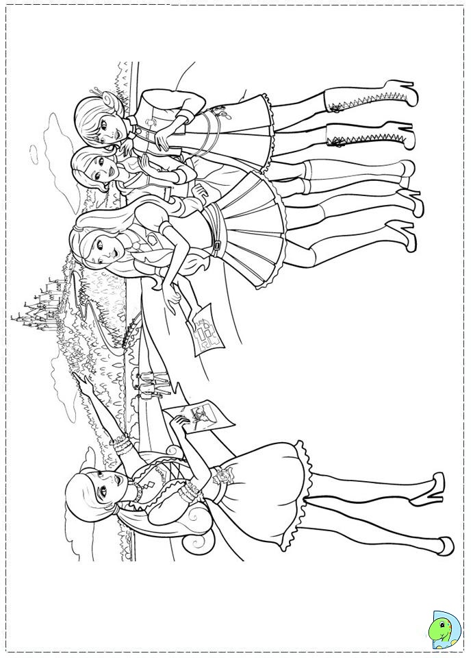 Princess Charm School Coloring Pages Printable
