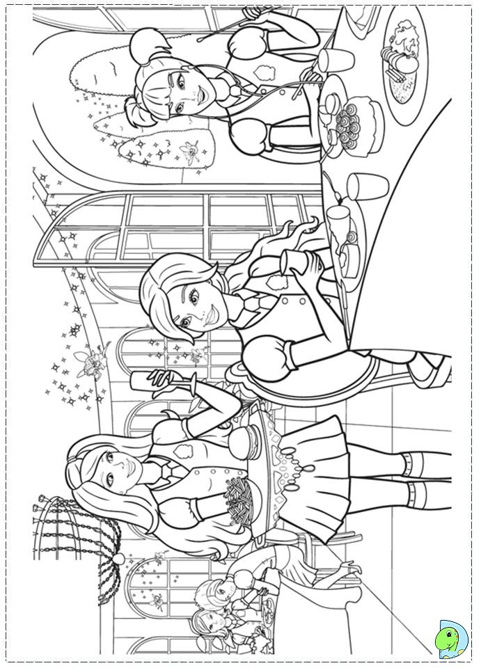 Barbie Princess Charm School Coloring page- DinoKids.org