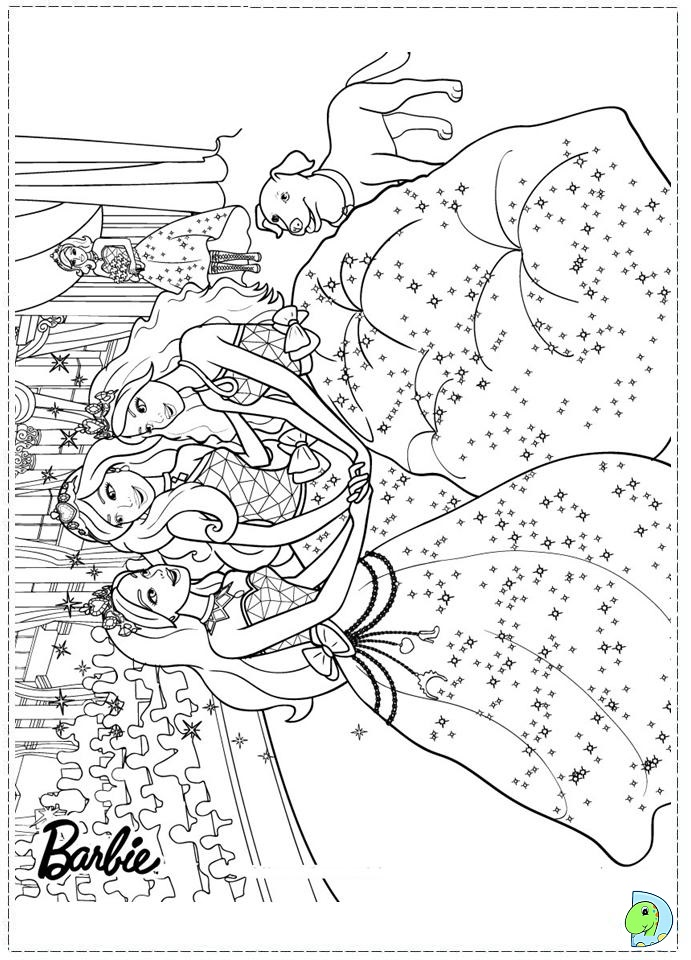 barbie princess charm school coloring page dinokidsorg - Barbie Princess Coloring Pages