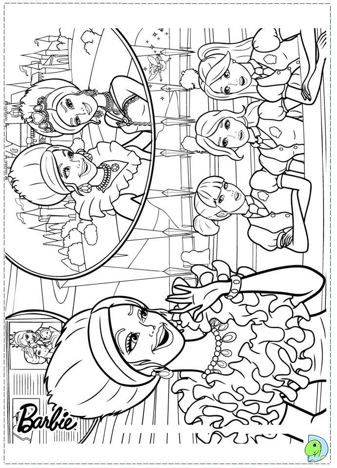 Princess Charm School Coloring Pages Barbie Princess Charm School