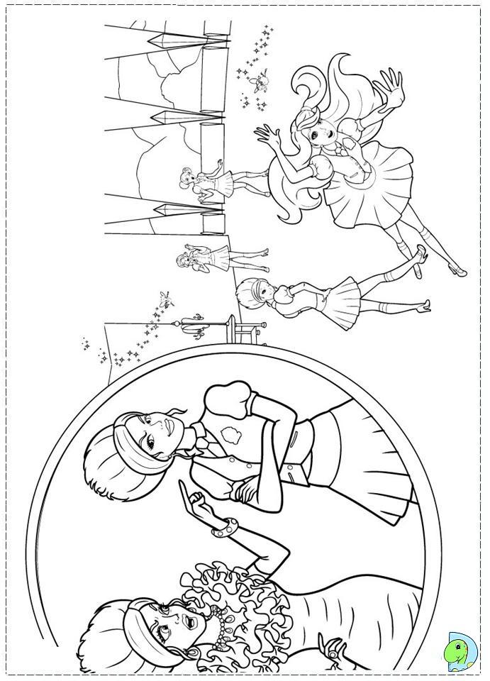 Coloring Pages Princess Charm School : Barbie princess charm school coloring page dinokids