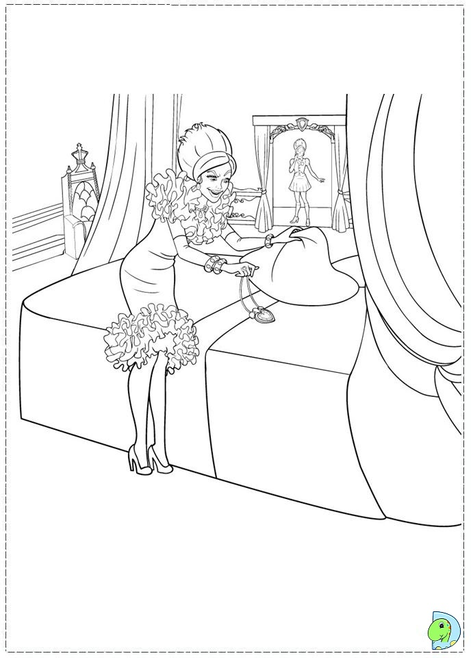 Barbie Princess Charm School - Free Colouring Pages