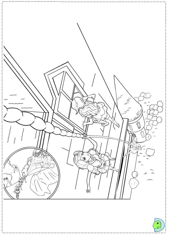 Coloring Pages Barbie Princess Charm School Barbie Princess Charm School