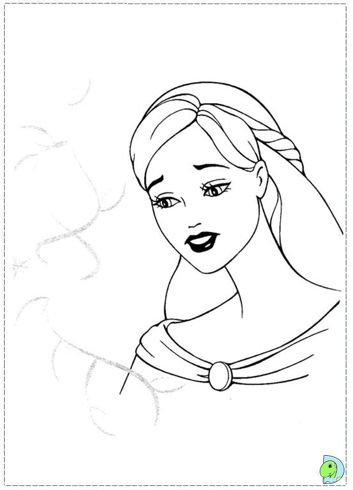 Barbie Magic Pegasus Printable Coloring Pages
