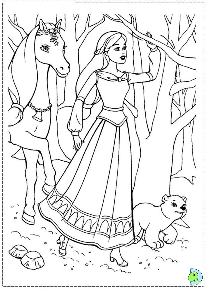 Barbie and the magic of Pegasus Coloring page DinoKids