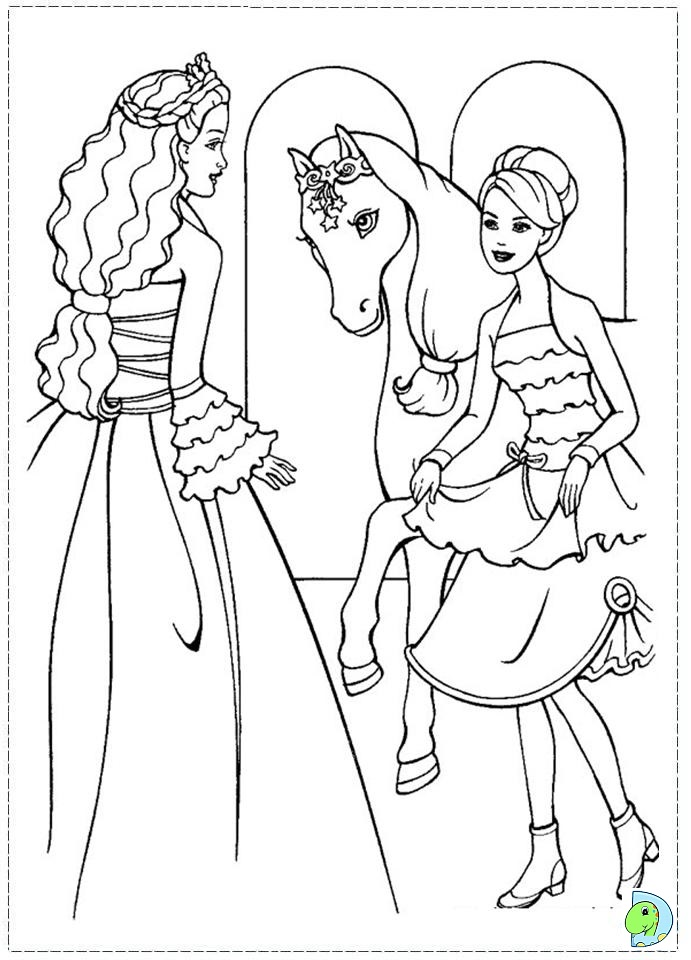 barbie and the magic of pegasus coloring page dinokids org