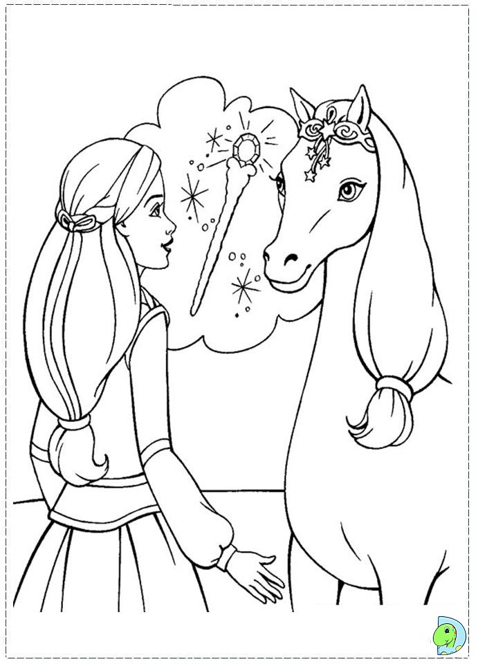 All about Barbie And The Magic Of Pegasus Coloring Pages On Coloring ...