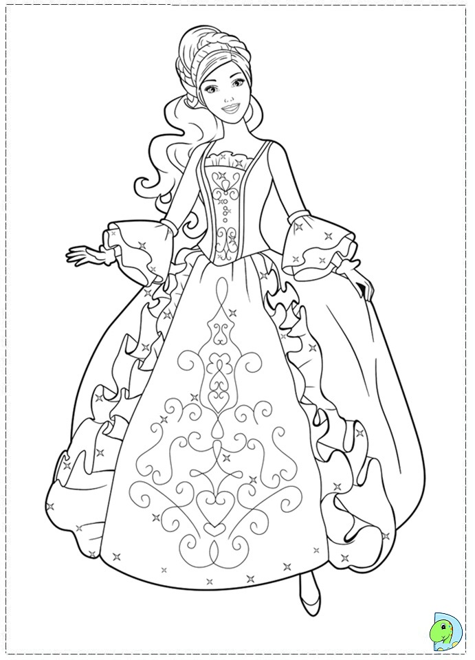 Free Coloring Pages Of Barbie Easy Drawing