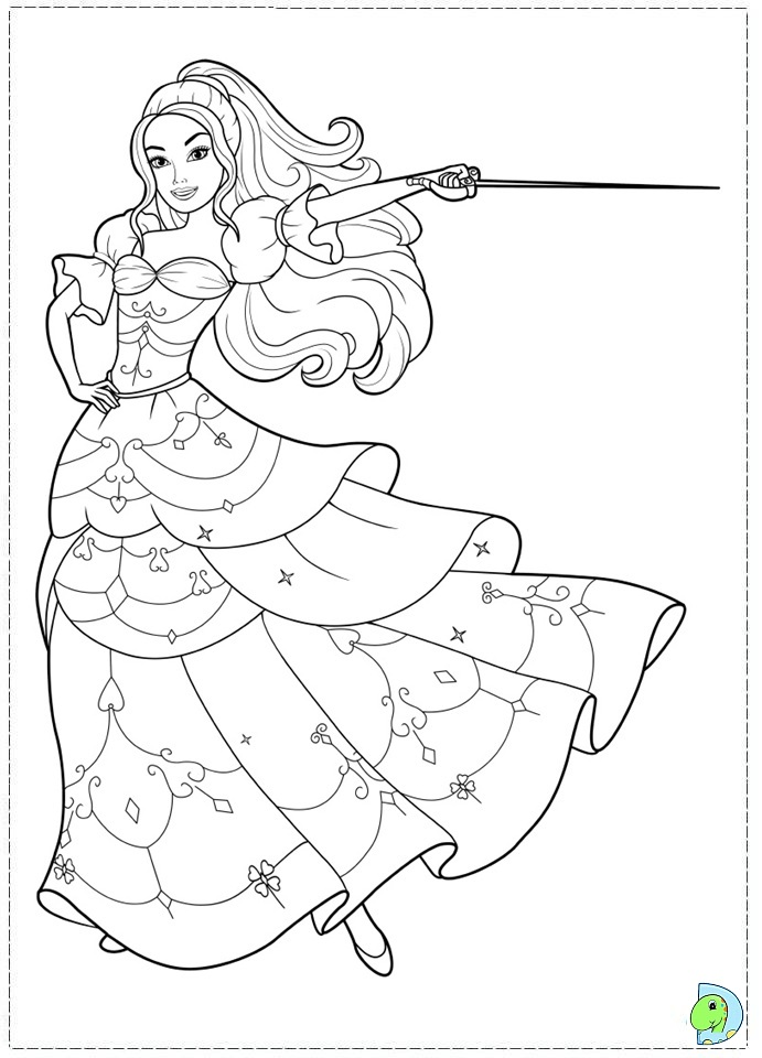 Coloring Pages Barbie Ponytail : Barbie coloring page dinokids