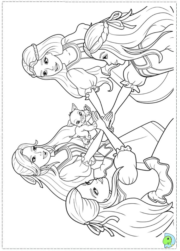 barbie 3 musketeers coloring pages - photo#6