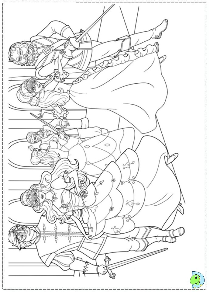 Barbie and the three Musketeers Coloring page DinoKids