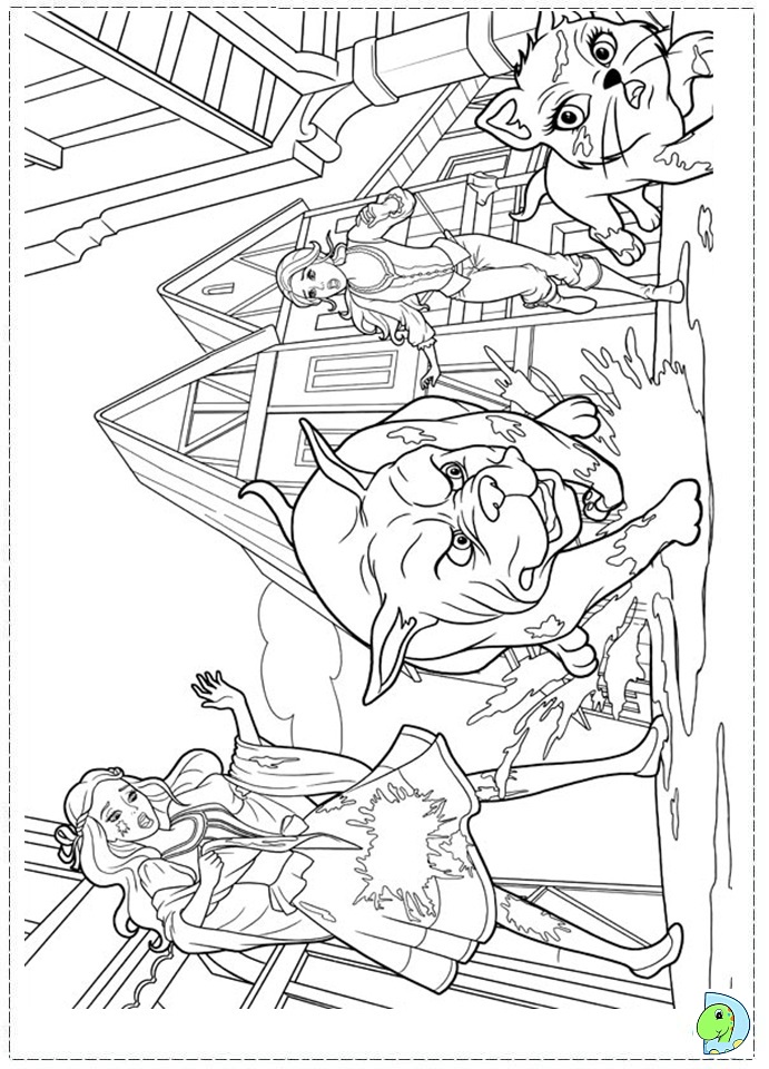 Coloring Pages Barbie Three Musketeers : Barbie and the three musketeers coloring page dinokids