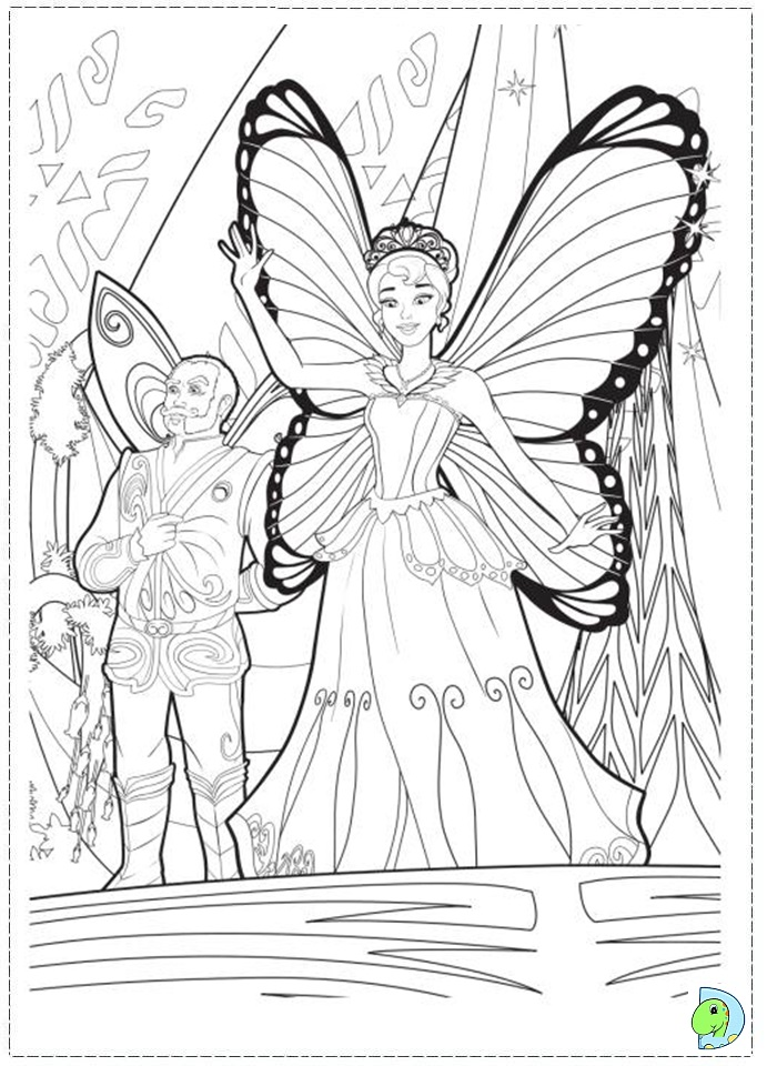 barbie mariposa coloring pages Carter's the Pearl Princess Barbie  Barbie The Pearl Princess Coloring Pages