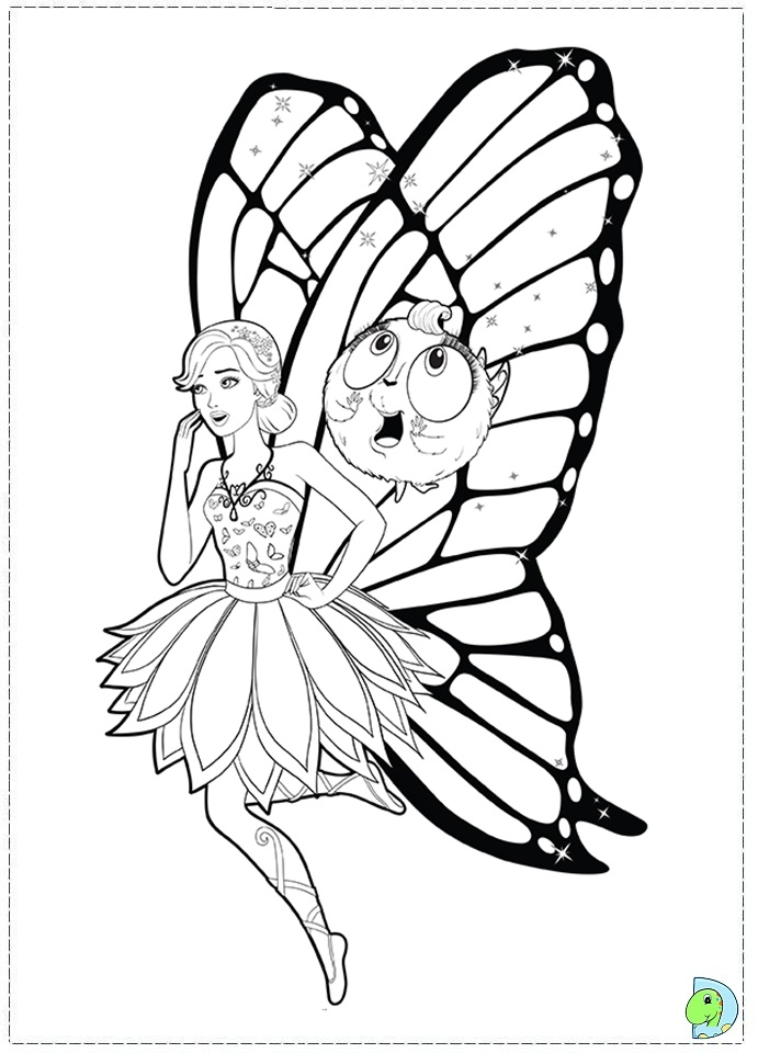 barbie butterfly coloring pages - photo#14
