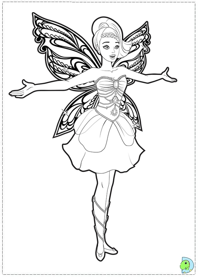 barbie mariposa coloring pages free - photo#15